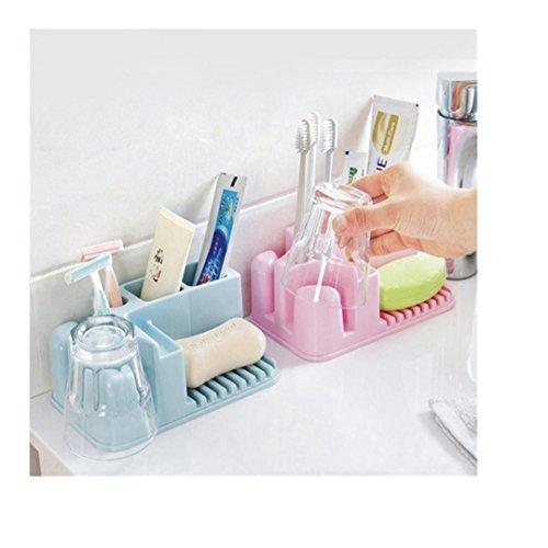 Sinfu 1PC Washable Storage Rack Bathroom Toothbrush Holder Cup Storage box