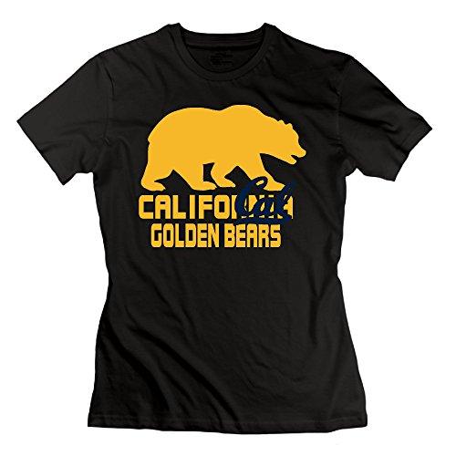 ElishaJ Women's California University Berkeley Fashion Cotton Tshirt Black Size XXL