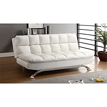 Amazon.com: Muebles de América Preston Tufted piel Sleeper ...