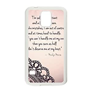 Marilyn Monroe Quote Phone Case for Samsung Galaxy S5