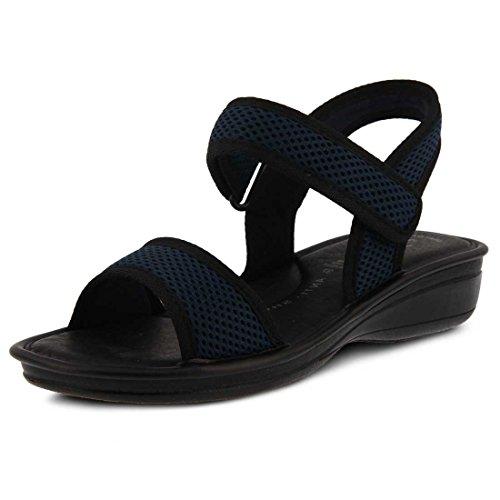Flexus Av Våren Skritt Womens Ulisse Heeled Sandal Navy