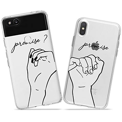 Wonder Wild Pinky Swear Couple Case iPhone Xs Max X Xr 10 8 Plus 7 6s 6 SE 5s 5 TPU Clear Gift Apple Phone Cover Print Protective Double Pack Silicone Promise Relationship Dual Matching Relationship]()