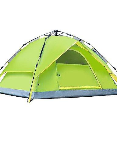 HIIY Zelt ( Blau/Hellgrün/Orange/Armeegrün , 3-4 Personen ) -Feuchtigkeitsundurchlässig/Wasserdicht/Regendicht/Anti-Insekten/Winddicht/Kaltes