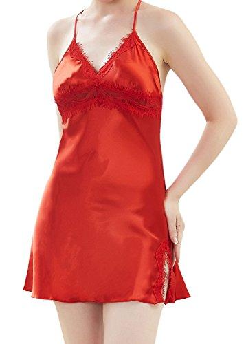 Mala Camicia da M Rot Negligee notte donna d5Cwqw
