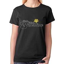 Vilcoo Women's Cartoon Cool T Shirts For Women Little Miss Sunshine Tee
