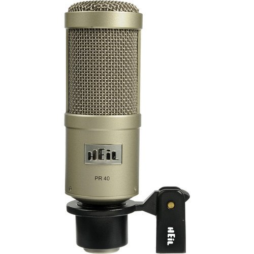Heil Sound PR 40 Dynamic Cardioid Studio Microphone Bundle with PRSM Shock Mount, Two-Section Broadcast Arm and Microphone Cable