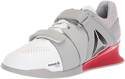 Reebok Men's Legacy Lifter Sneaker, White/Stark Grey/Primal red, 11 M US