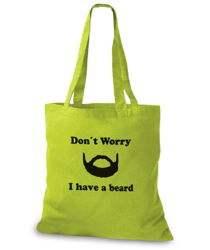 StyloBags Jutebeutel / Tasche Dont worry I have a beard Kiwi 88nnBY