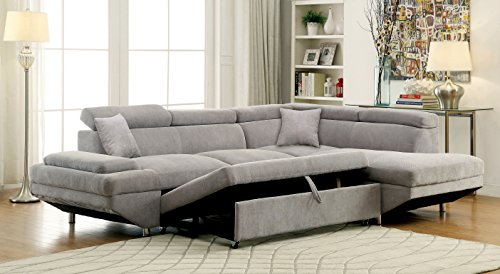 HOMES: Inside + Out Walter's Sectional with Pull Out Sleeper Chaise
