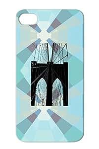 Brooklyn Bridge Durable Cover Case For Iphone 4/4s Black Apple Art Design Photography New York City NYC Big Apple