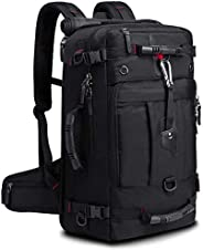 KAKA Travel Backpack,Durable Duffle Bag Hiking Daypack Canvas Laptop Backpack for Men and Women