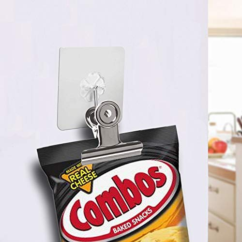 Chip Clips Bag Clips Food Clips - 20 Heavy Duty Clips for Bag -All-Purpose Air Tight Seal Grip Clips Cubicle Hooks for Kitchen Office School by Alago (Image #4)