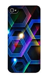 Hard Plastic Case For Iphone 5/5S Cover Back Cover, Hot Colorful Hexagons Case For Christmas's Perfect Gift