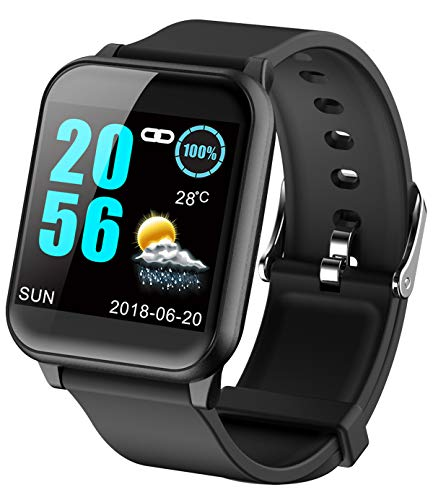 Fitness Tracker ECG Heart Rate Monitor Blood Pressure Smart Watches for Android iOS Pedometer Activity Tracker (Best Smart Touch Casual Fitness Trackers)
