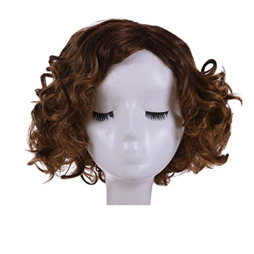 Inkach Afro Curly Wig for Black Women Short