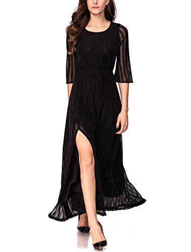 long black maternity evening dress - 8