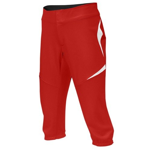 Nike Women's Turntwo 3/4 Fastpitch Pant, Scarlet/White, SM