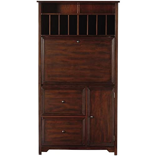 oxford tall secretary desk chestnut