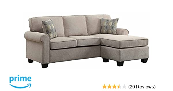 2 Accent Chairs And A Tv And Sectional.Amazon Com Homelegance Clumber 82 Reversible Sectional With Accent