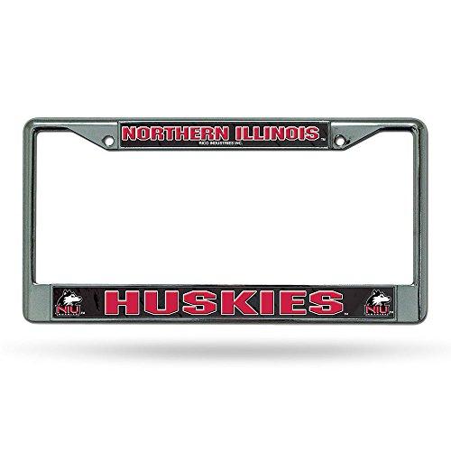 [Rico Industries RIC-FC400710 Northern Illinois Huskies NCAA Chrome License Plate Frame] (Illinois Chrome License Plate)