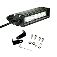 SLDX 7'' 30w Single Row Led Light Bar (One Pair) 30 Degree Spot Beam 6 x 5w Cree Leds for Off road Truck Atv Motorcyle -1 Years Warranty