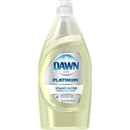 - Dawn Ultra Platinum Dishwashing Liquid, Stainfighter, Lemon Burst Scent, 18 Ounce (Pack of 2)