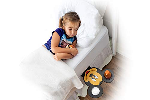 Price comparison product image D3 Products Bed Shelf - Disney Decor Mickey Mouse Themed Shelf - Portable Nightstand Shelves for Holding Snacks and Drinks by Your Bed and in Bedrooms (Mickey)