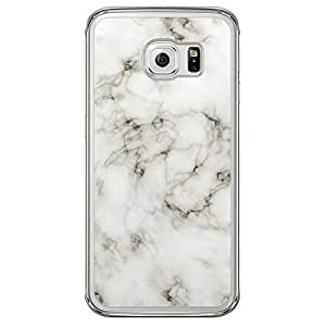 Loud Universe Samsung Galaxy S6 Edge Madala Wood n Marble A Random 3 Printed Transparent Edge Case - Off White