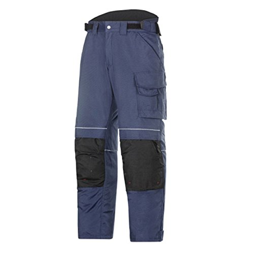 Snickers 36199504144 Pantalon d'Hiver Power Taille 144 Bleu Marin/Noir