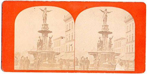 Cincinnati Ohio Tyler Davidson Fountain Stereoview ()