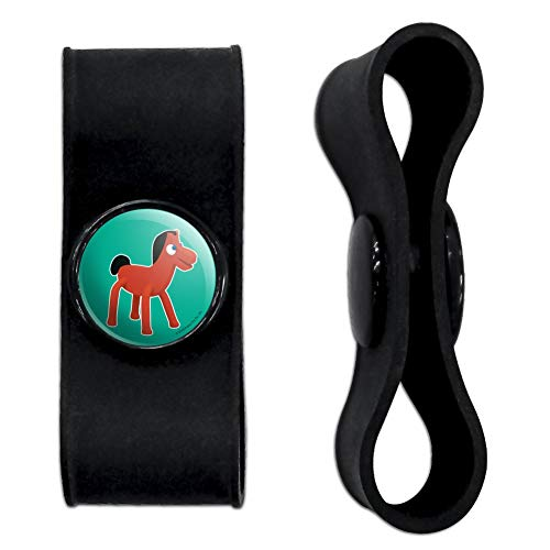 GRAPHICS & MORE Pokey Gumby's Horse Pony Pal Friend Headphone Earbud Cord Wrap - Charging Cable Manager - Wire Organizer Set of 2 - - Manager Pony