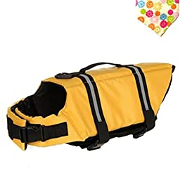 Float Coat Dog Life Jacket Quick Release Easy-Fit Adjustable Dog Life Protecter (S, YELLOW)