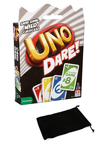 Uno Dare Card Game Bundle With Drawstring Bag Buy Online In Montenegro At Montenegro Desertcart Com Productid 158954934