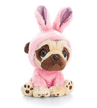 Amazoncom Pugsley 20cm Pink Bunny Ears Pug Plush Soft Toy Teddy