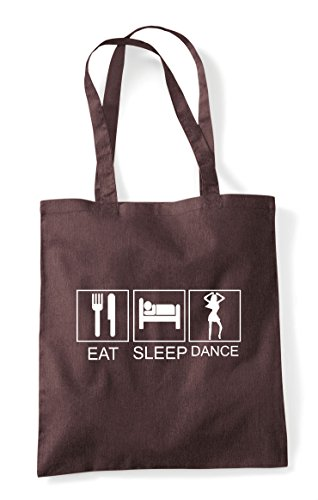 Brown Shopper Funny Tote Bag Sleep Tiles Hobby Eat Dance Activity W7UZzwUAq