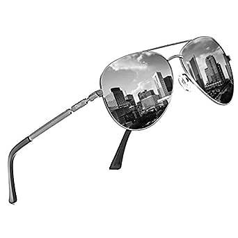 DUCO Designer Polarized Sunglasses Vintage Round Sunglasses With Case 100% UV400 Protection 3025K (Gunmetal Frame Grey Lens, Grey)