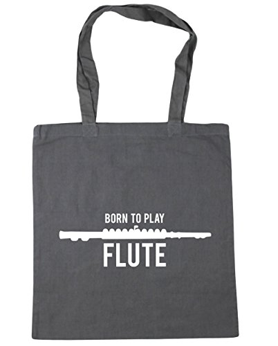 to Bag Grey 10 Graphite Shopping Beach HippoWarehouse Play Tote Flute Born 42cm x38cm litres Gym Cx5HRSfq