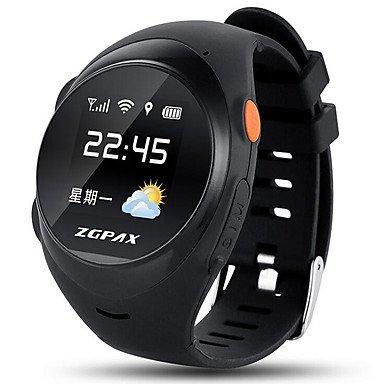 Lemumu S888 Los ancianos alumnos niños Teléfono inteligente posicionamiento GPS relojes Relojes de alarma de caída puede llamar puedes conectar la tarjeta ...