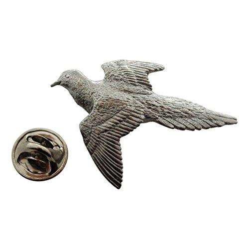 Sarah's Treats & Treasures Dove Pin ~ Antiqued Pewter ~ Lapel Pin