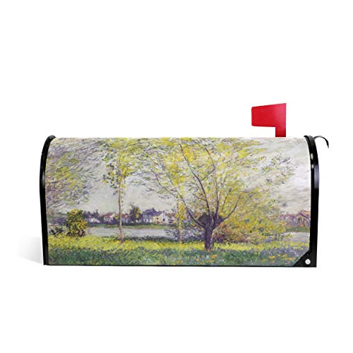 - Claude Monet Art 1880 The Willows Magnetic Mailbox Cover Seasonal Outdoor 20.7