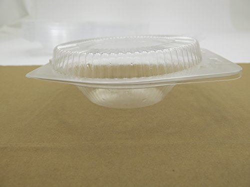 5'' Disposable Clear Clam shell Display Container. For All 5'' tart and Pie pans #762 (500) by DFI (Image #2)