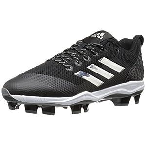 adidas Originals Men's Freak X Carbon Mid Baseball Shoe, Core Black, Silver Met, FTWR White, 9 M US