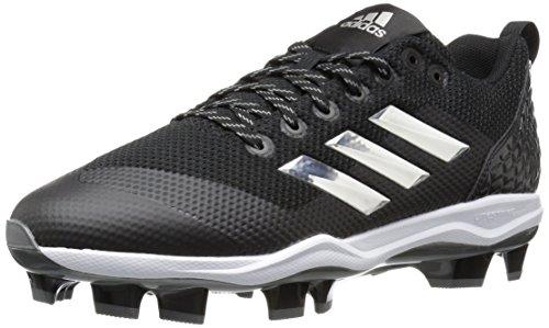Adidas Baseball Cleats (adidas Men's Freak X Carbon Mid Baseball Shoe, Core Black, Silver Met, FTWR White, 10 M US)