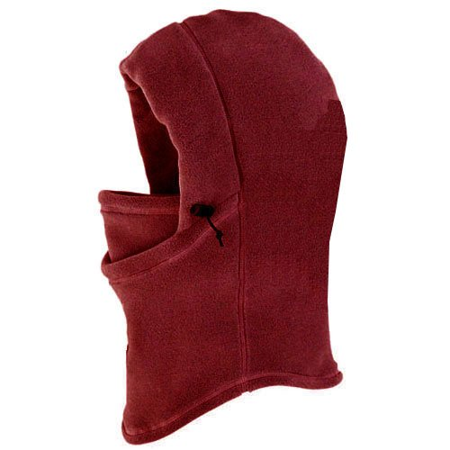 TAIGA Polar Hood - Polartec-300 Fleece Thermal Polar Hood, (Color Choice: Burgundy, Lead, Gold, and Navy Blue), MADE IN CANADA, Burgundy
