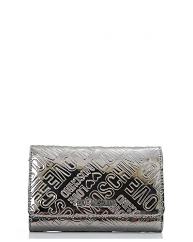 Love Moschino Accessories Metallic Logo Wallet One Size PEWTER