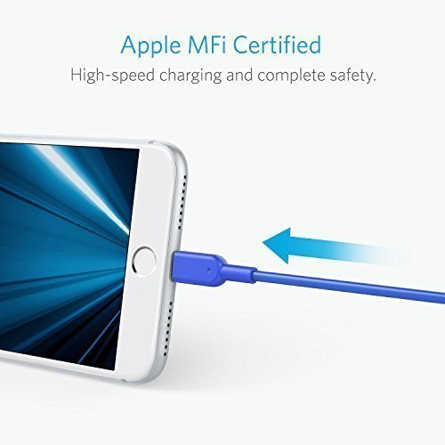 Anker Powerline II Lightning Cable (6ft), Probably The World's Most Durable Cable, MFi Certified for iPhone XS/XS Max/XR / X / 8/8 Plus / 7/7 Plus / 6/6 Plus (Blue) by Anker