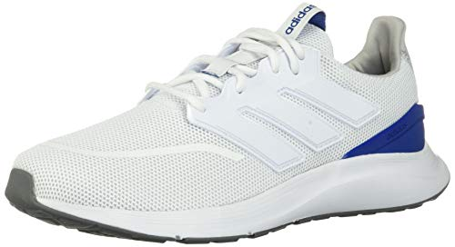 adidas Men's EnergyFalcon Running Shoe, White/Collegiate Royal/Black, 10 M US
