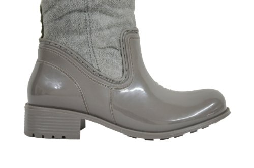 M Women's 10 Grey Buckle Boots Snow Calf Mid With DPN US DWB201 v6wqZv