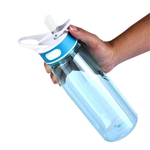 Hydration Sports Water Bottle - Leak proof - Tritan Material - BPA-Free - For Long Hikes, Trekking, Hot Yoga Class, Long Load Trip, or Any Other Outdoor Activities - 800ml - Blue