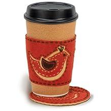 Dimensions 72-73582 Needlecrafts Handmade Embroidery, Bird Coffee Cozy and Coaster